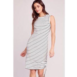 BB Dakota -Stripe Midi Ruched Side Dress